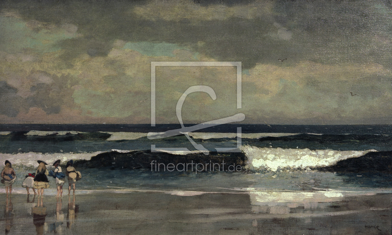 Bild-Nr.: 30001048 Winslow, Homer / On the beach / 1869 erstellt von Homer, Winslow