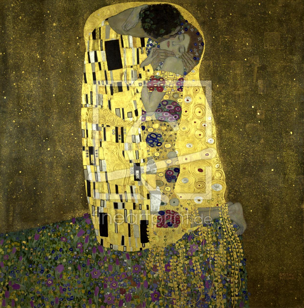 klimt the kiss 1908 als leinwand von klimt gustav e. Black Bedroom Furniture Sets. Home Design Ideas