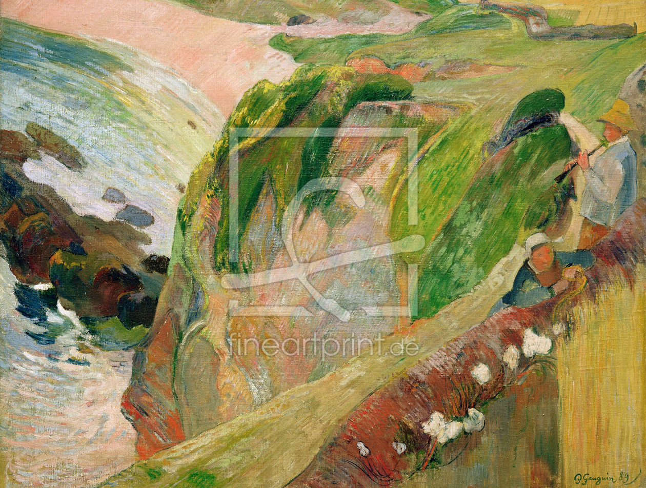 Bild-Nr.: 30001740 Gauguin /Flut Player on th.Cliffs/ 1889 erstellt von Gauguin, Paul
