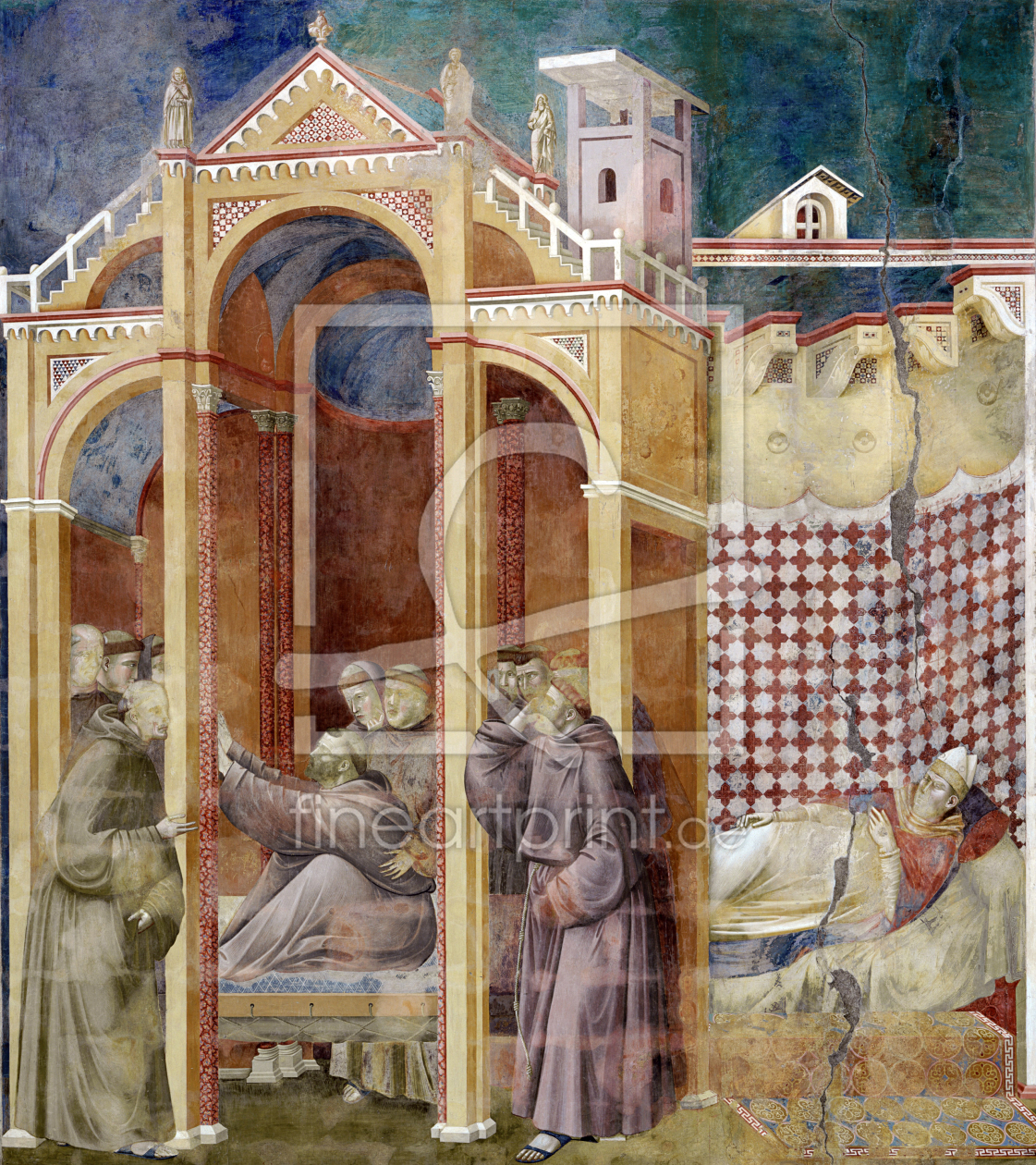Giotto St Francis appears to Augustus als Mousepad von
