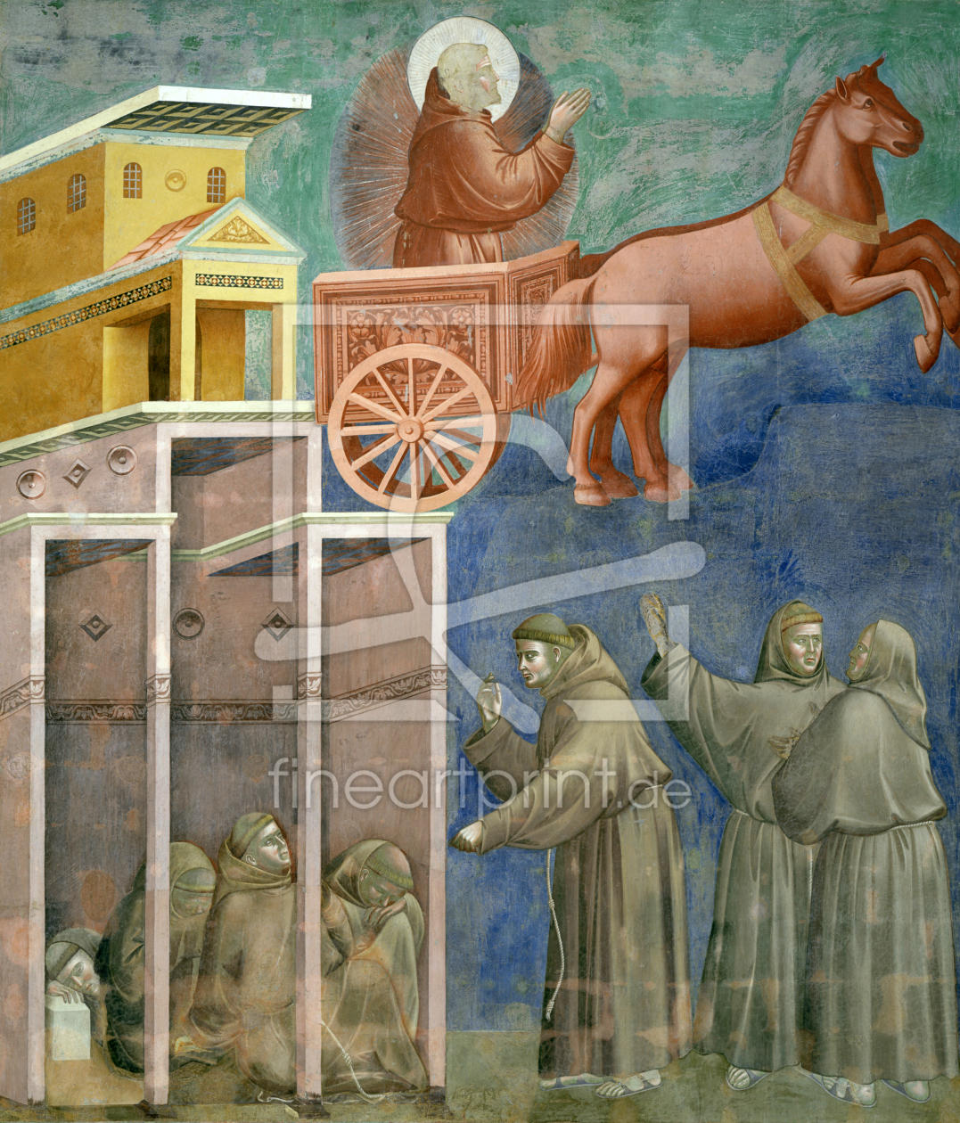 Bild-Nr.: 30001952 Giotto / St. Francis and the monks erstellt von Giotto di Bondone