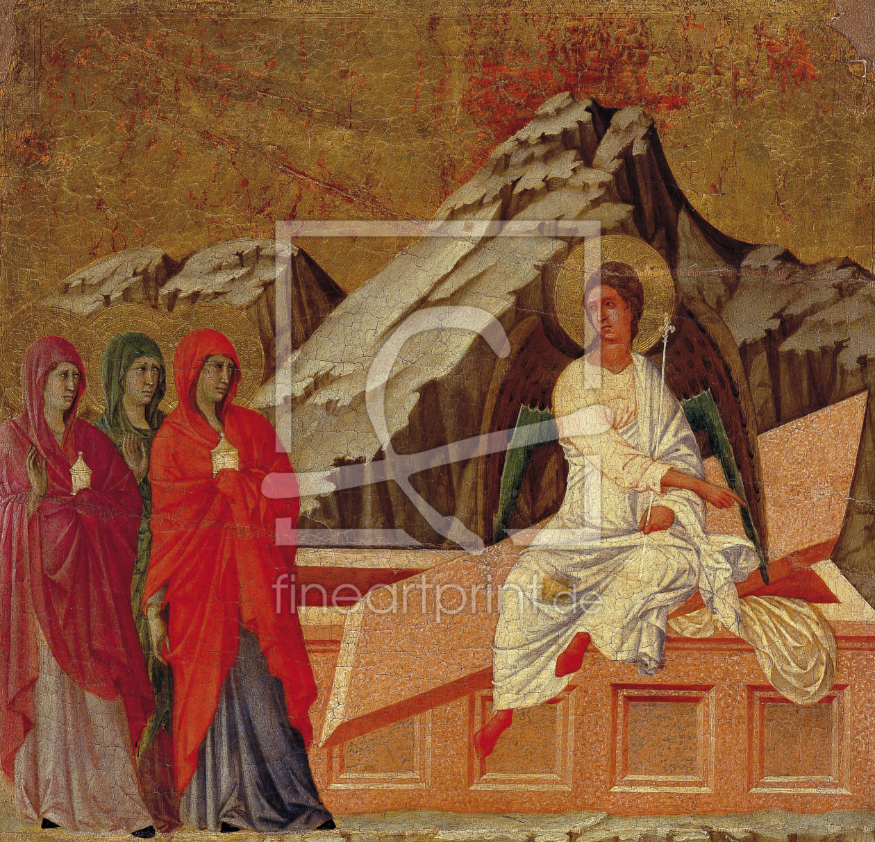 Bild-Nr.: 30002108 Duccio, Three Marys at the Tomb / Paint. erstellt von Duccio (di Buoninsegna)