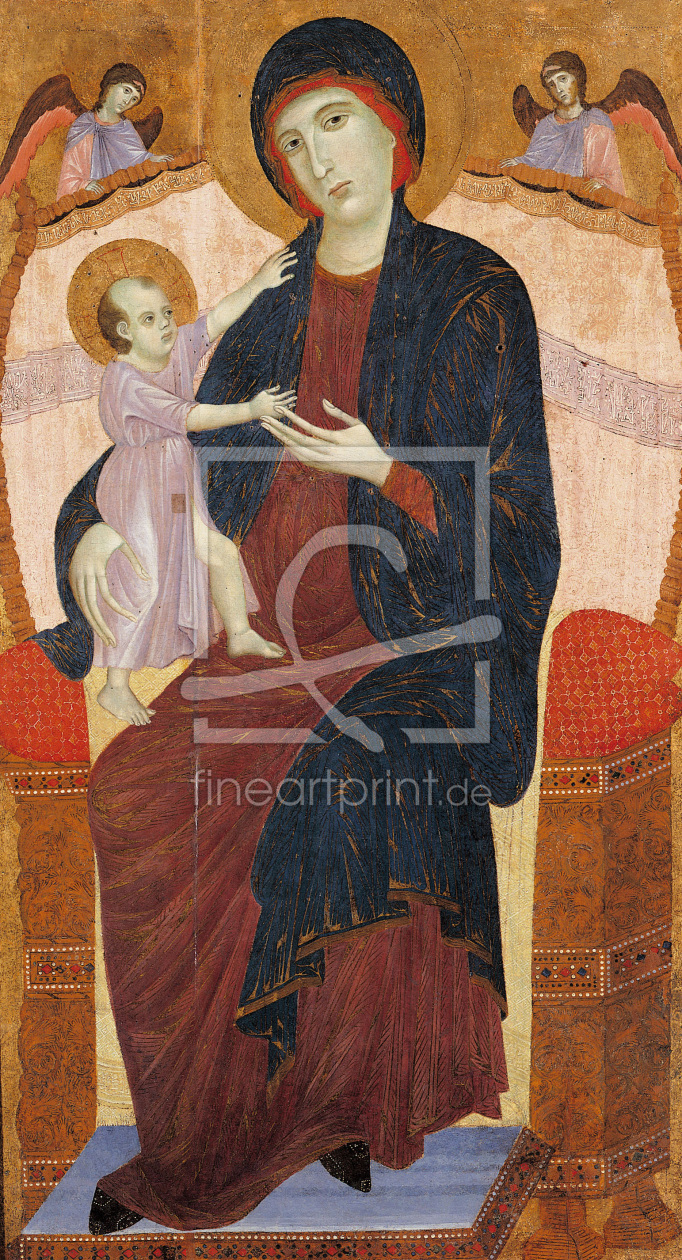 Bild-Nr.: 30002120 Duccio / Enthroned Mary w.Child / Paint. erstellt von Duccio (di Buoninsegna)