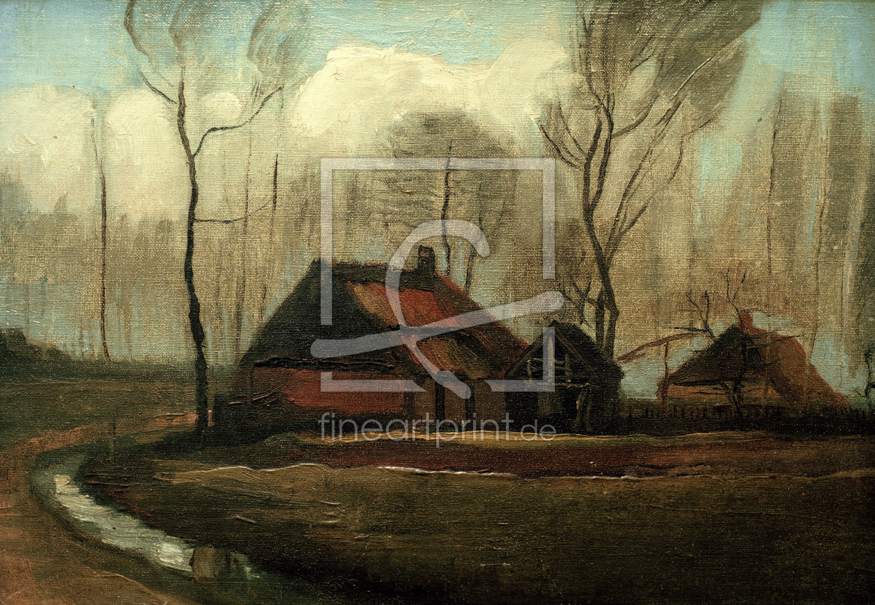 Bild-Nr.: 30003192 v.Gogh / Farmhouse after the Rain / 1883 erstellt von van Gogh, Vincent