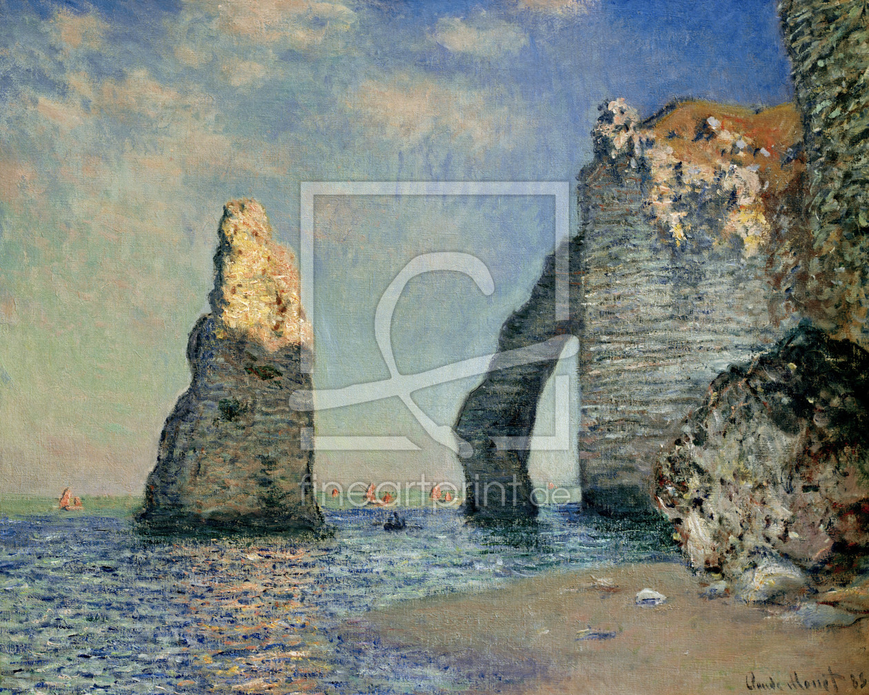 Bild-Nr.: 30003932 Monet / The rock face of Aval / 1885 erstellt von Monet, Claude