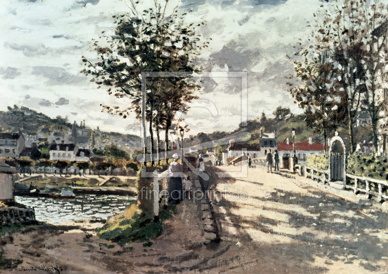 Bild-Nr.: 30004020 Monet / The bridge of Bougival / 1870 erstellt von Monet, Claude