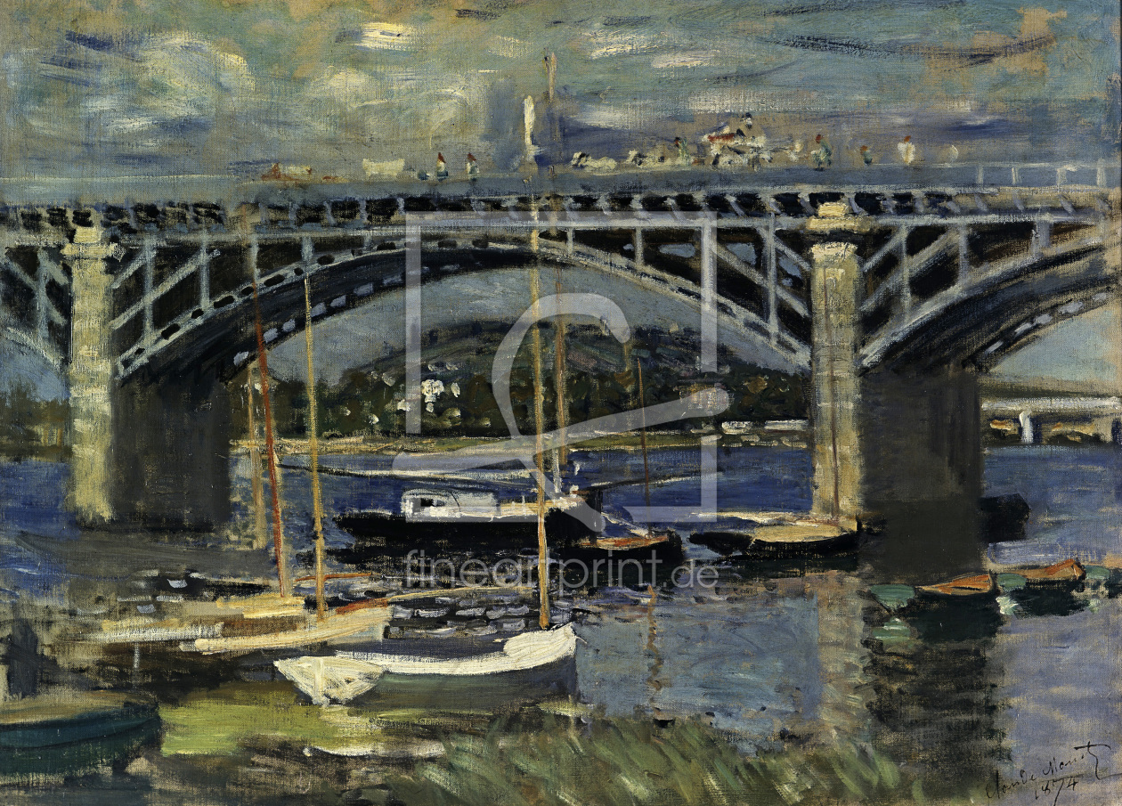 Bild-Nr.: 30004048 Claude Monet/Railway Bridge at Argent. erstellt von Monet, Claude