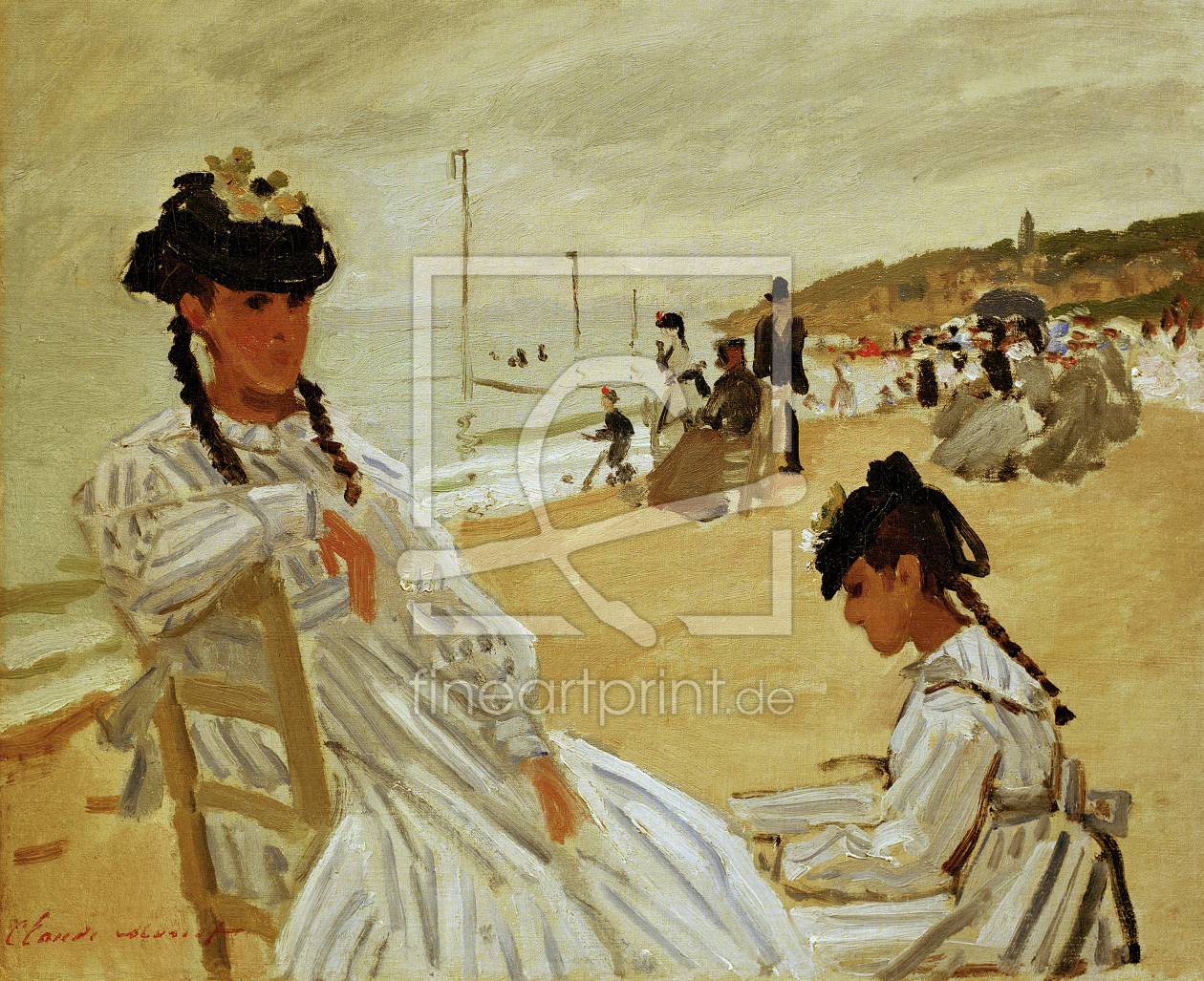Bild-Nr.: 30004222 Monet / On the beach in Trouville / 1870 erstellt von Monet, Claude