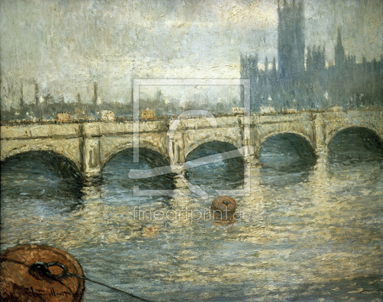Bild-Nr.: 30004232 Monet / Bridge over the Thames / 1903 erstellt von Monet, Claude