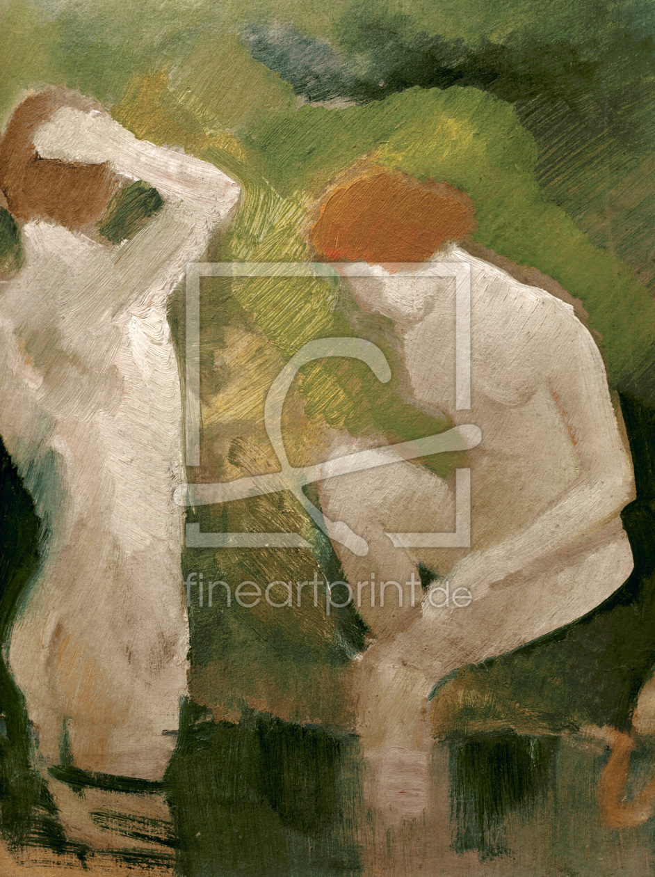 Bild-Nr.: 30005088 Macke /Bathers at the green slope /1910 erstellt von Macke, August