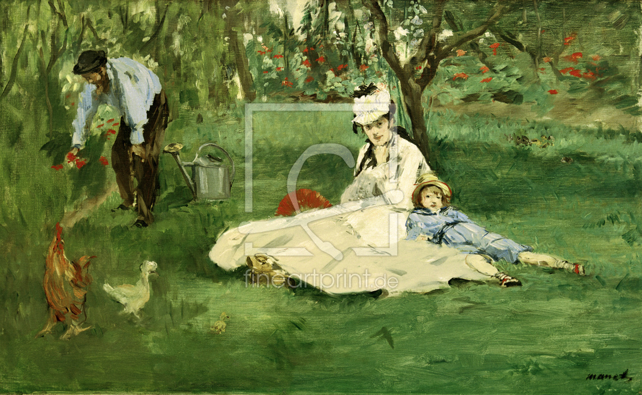 Bild-Nr.: 30005354 The Monet family in the garden / E.Manet erstellt von Macke, August