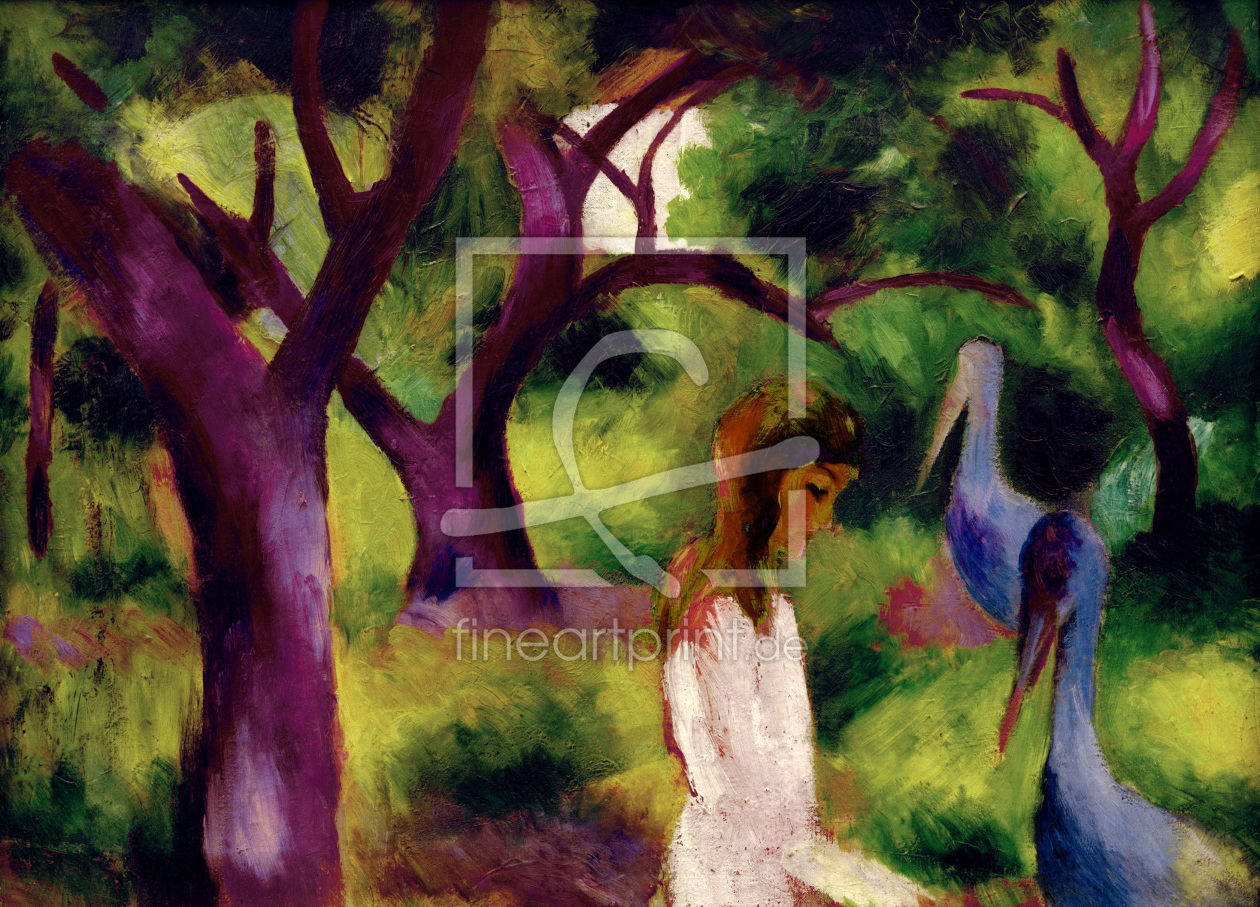 Bild-Nr.: 30006470 August Macke, Girl and blue birds erstellt von Macke, August