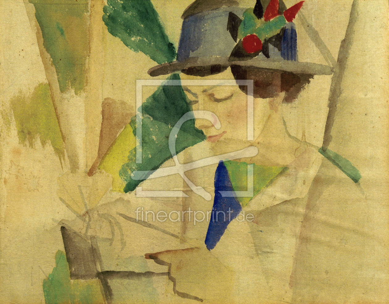 Bild-Nr.: 30006510 August Macke / Portrait of the wife erstellt von Macke, August