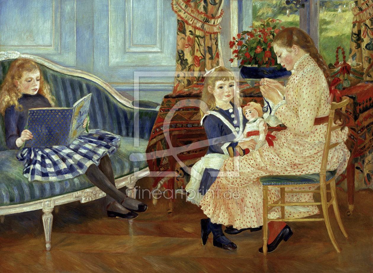 Bild-Nr.: 30006662 Renoir /Afternoon of the children /1884 erstellt von Renoir, Pierre-Auguste