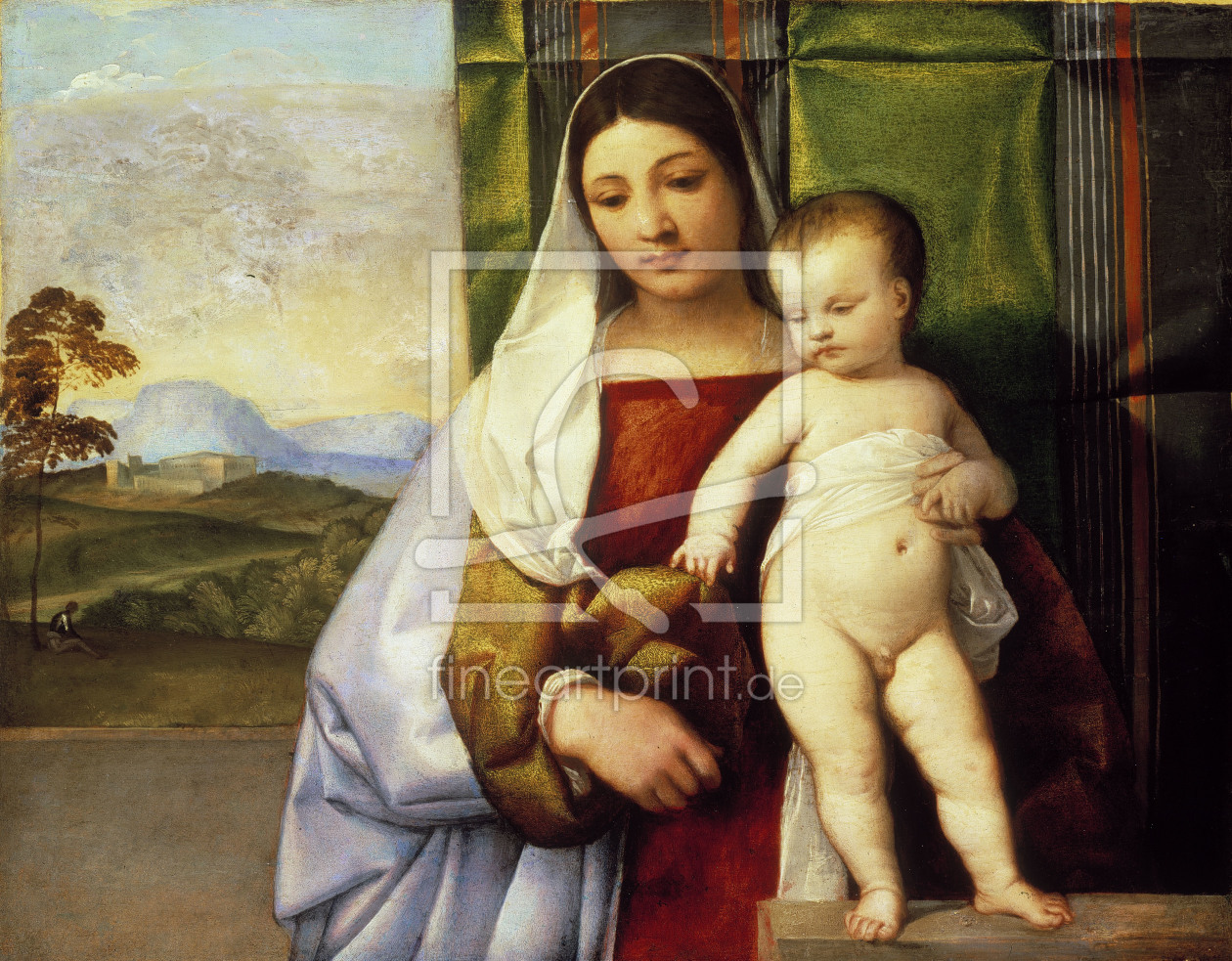 Bild-Nr.: 30007515 Titian / Madonna and Child