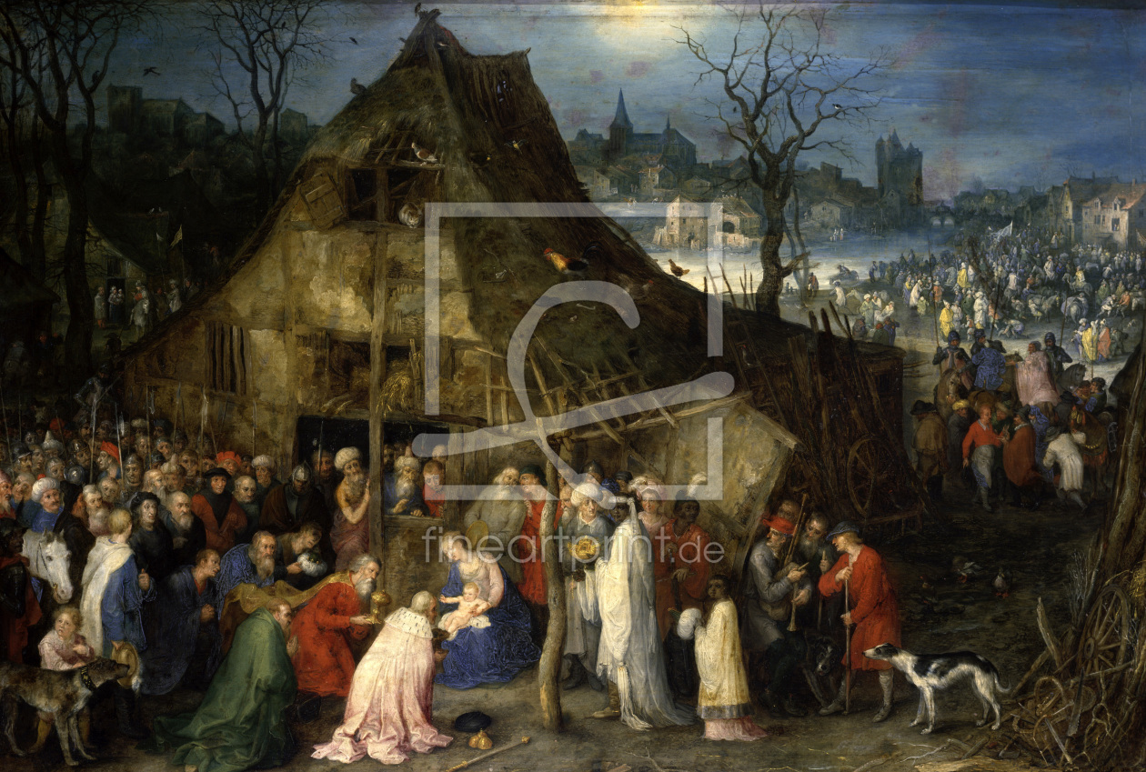 Bild-Nr.: 30007737 J. Brueghel the eld., Worshipping Kings erstellt von Jan Brueghel the older