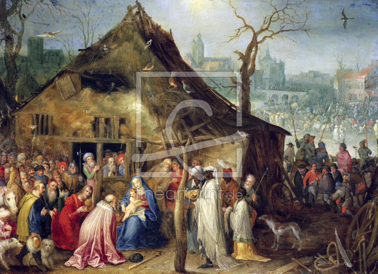 Bild-Nr.: 30007851 Adoration of the Kings / Brueghel t.E erstellt von Jan Brueghel the older