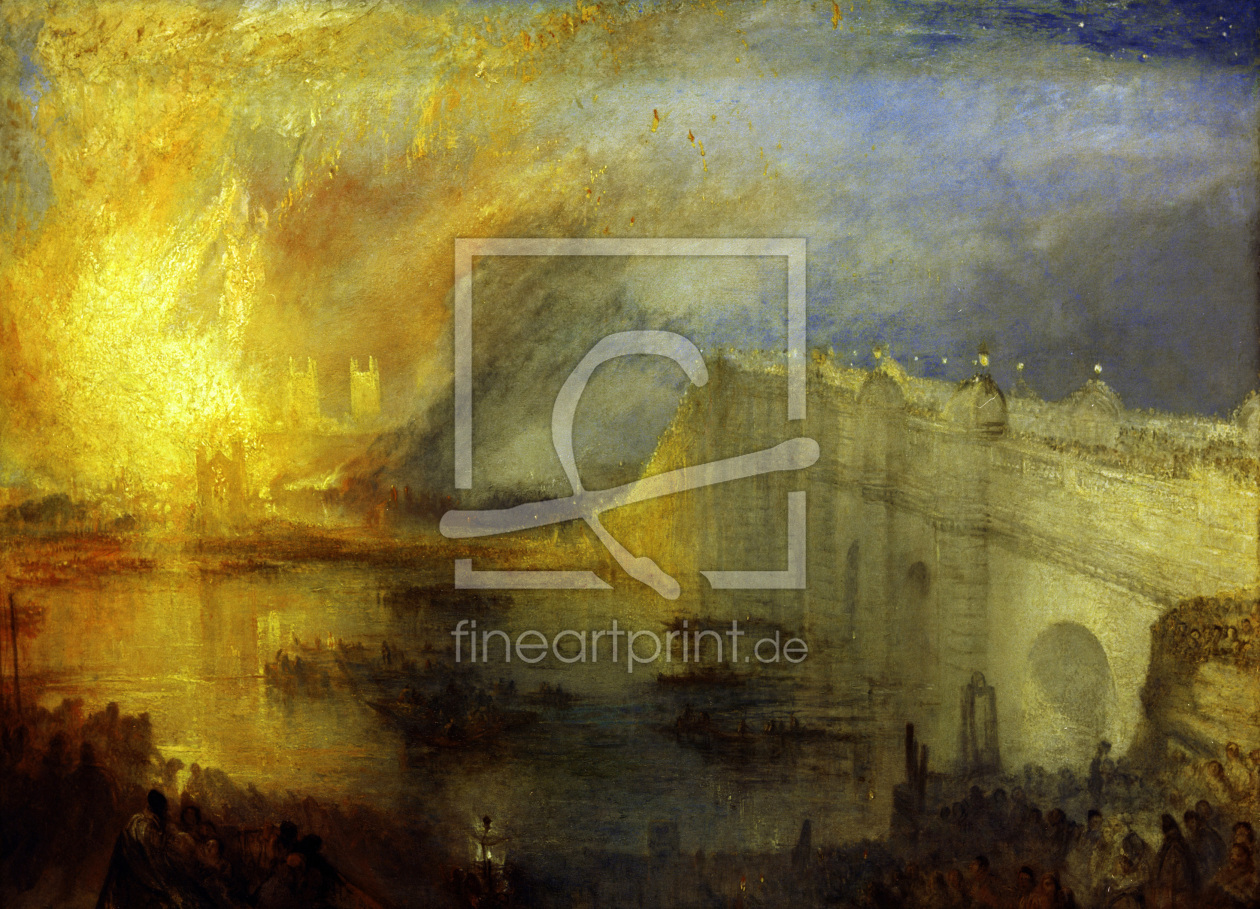 Bild-Nr.: 30008037 Turner / Burning of Houses of Lords erstellt von Turner, Joseph Mallord William
