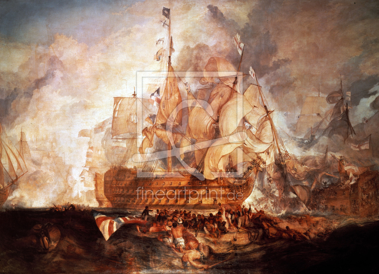 Bild-Nr.: 30008083 Battle of Trafalgar / Turner erstellt von Turner, Joseph Mallord William