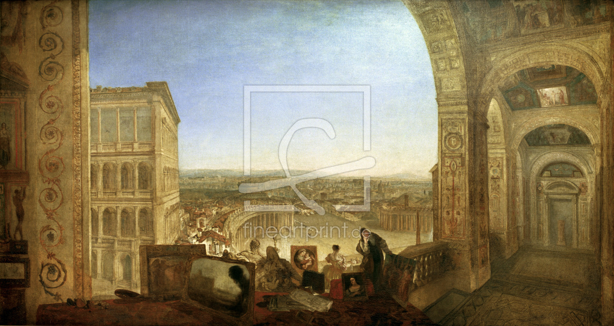 Bild-Nr.: 30008131 Turner/Rome from th.Vatican with Raphael erstellt von Turner, Joseph Mallord William