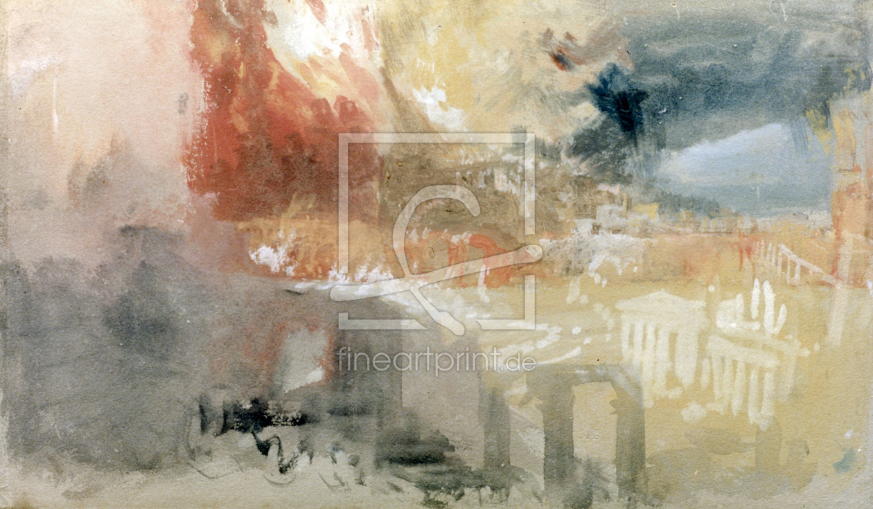 Bild-Nr.: 30008149 W.Turner / The Burning of Rome erstellt von Turner, Joseph Mallord William