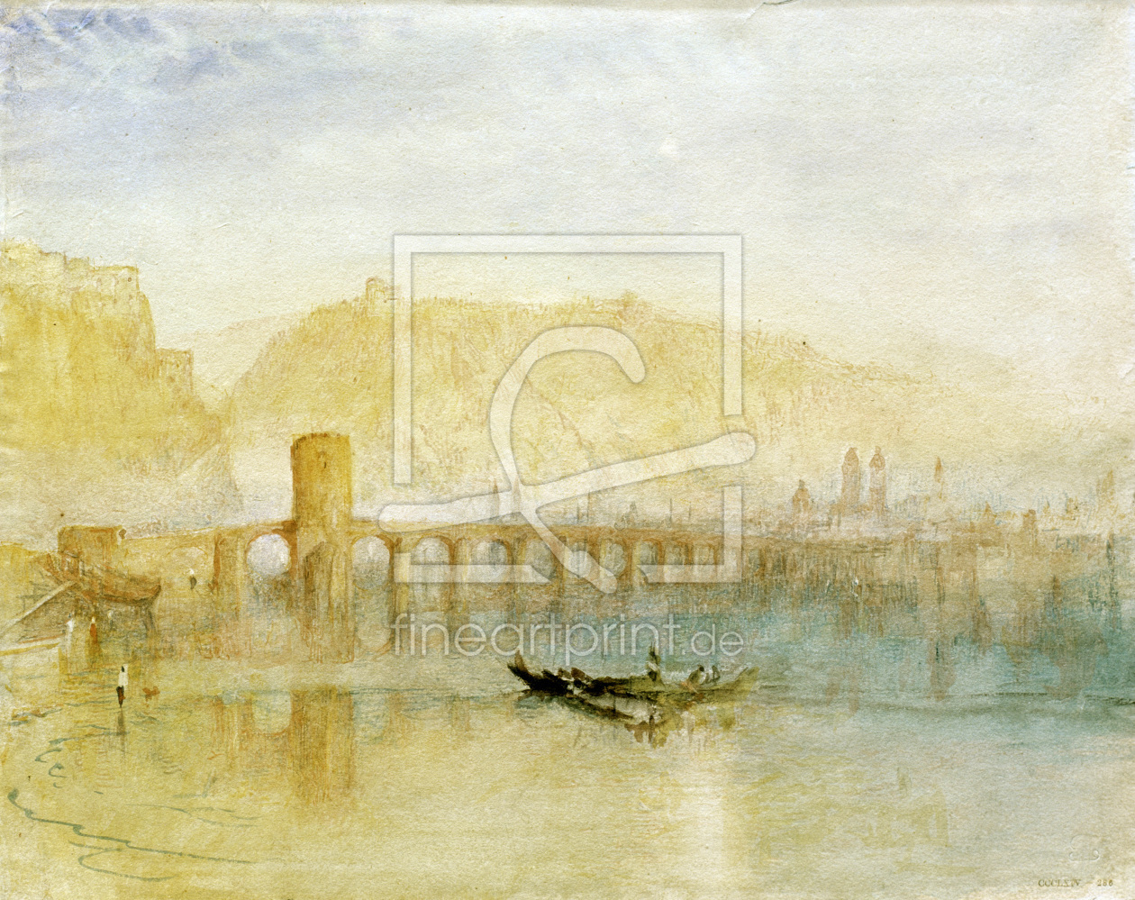 Bild-Nr.: 30008161 William Turner / Mosel Bridge / Coblenz erstellt von Turner, Joseph Mallord William