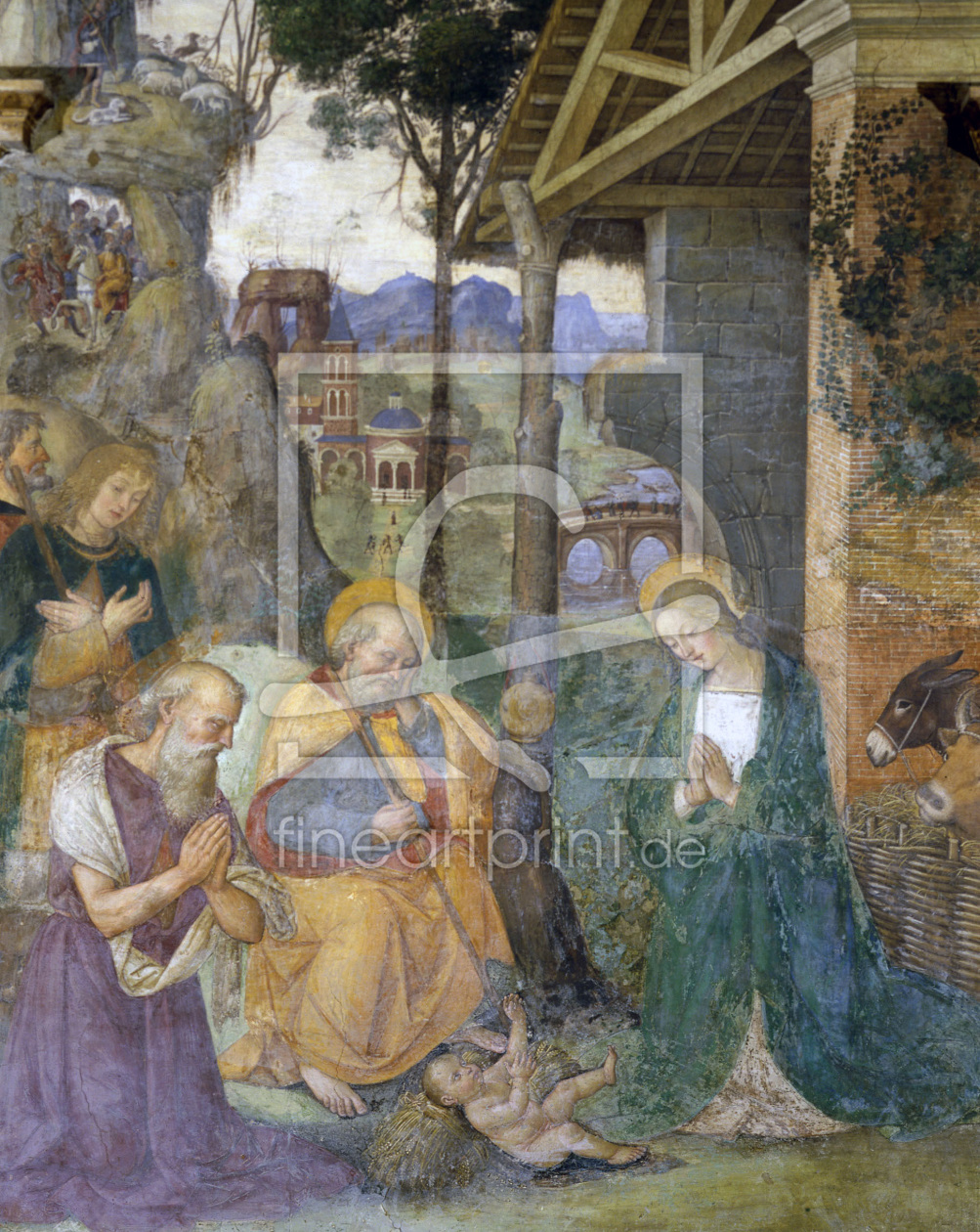Bild-Nr.: 30008217 Pinturicchio / Adoration of the child erstellt von Pinturicchio, Bernadino di Betto di Biagio