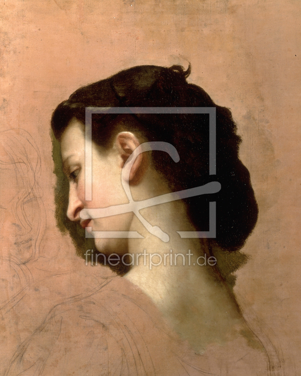 Bild-Nr.: 30008733 W.Bouguereau, Sketch of a Young Girl. erstellt von Bouguereau, William Adolphe
