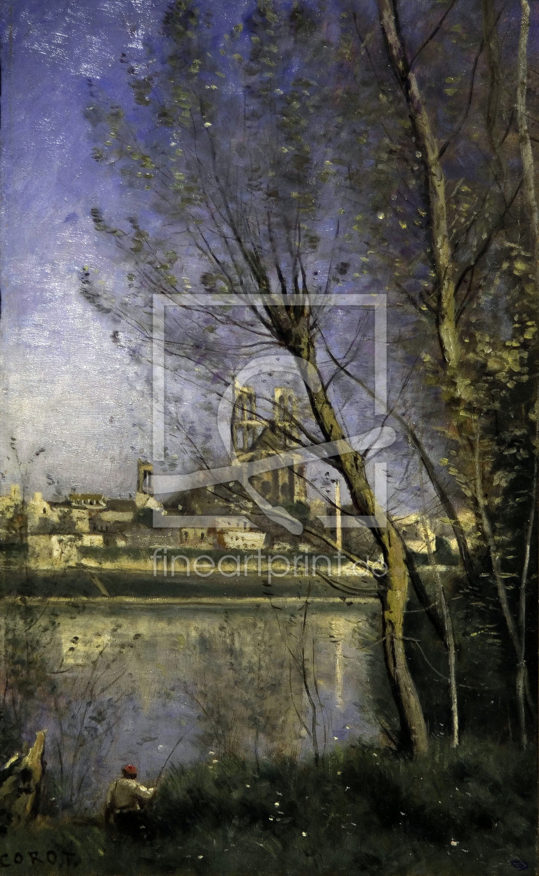 Bild-Nr.: 30008889 C.Corot, Cathedral in Mantes / painting erstellt von Corot, Jean Baptiste Camille