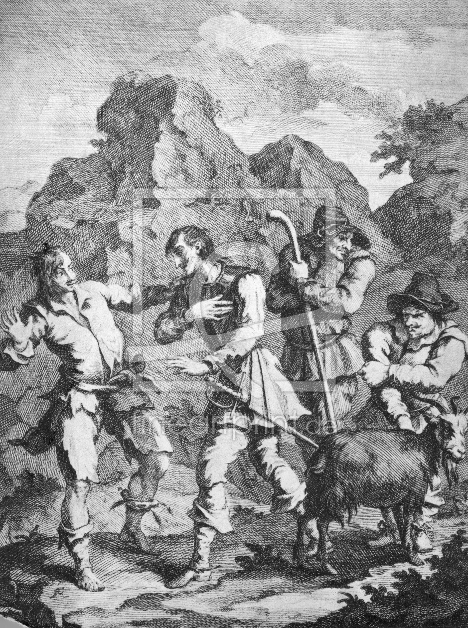Bild-Nr.: 30009174 Cervantes, Don Quixote / Engr.by Hogarth erstellt von Hogarth, William
