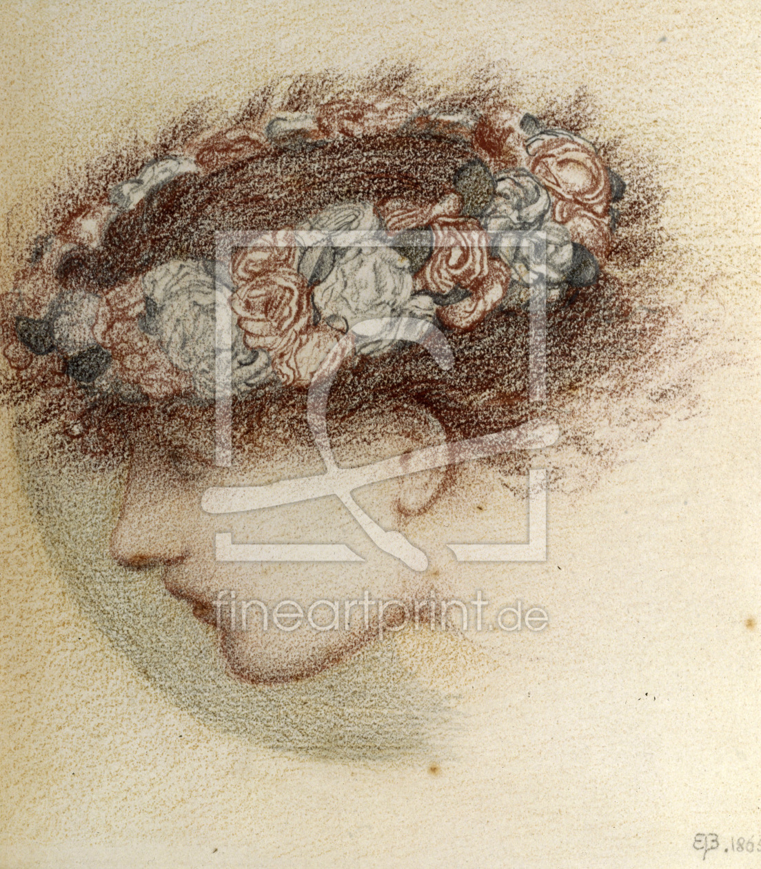 Bild-Nr.: 30009228 E. Burne-Jones, Study for head of Cupid erstellt von Burne-Jones, Edward