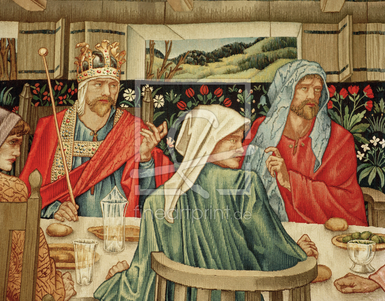 Bild-Nr.: 30009236 King Arthur / Round Table / Burne-Jones erstellt von Burne-Jones, Edward