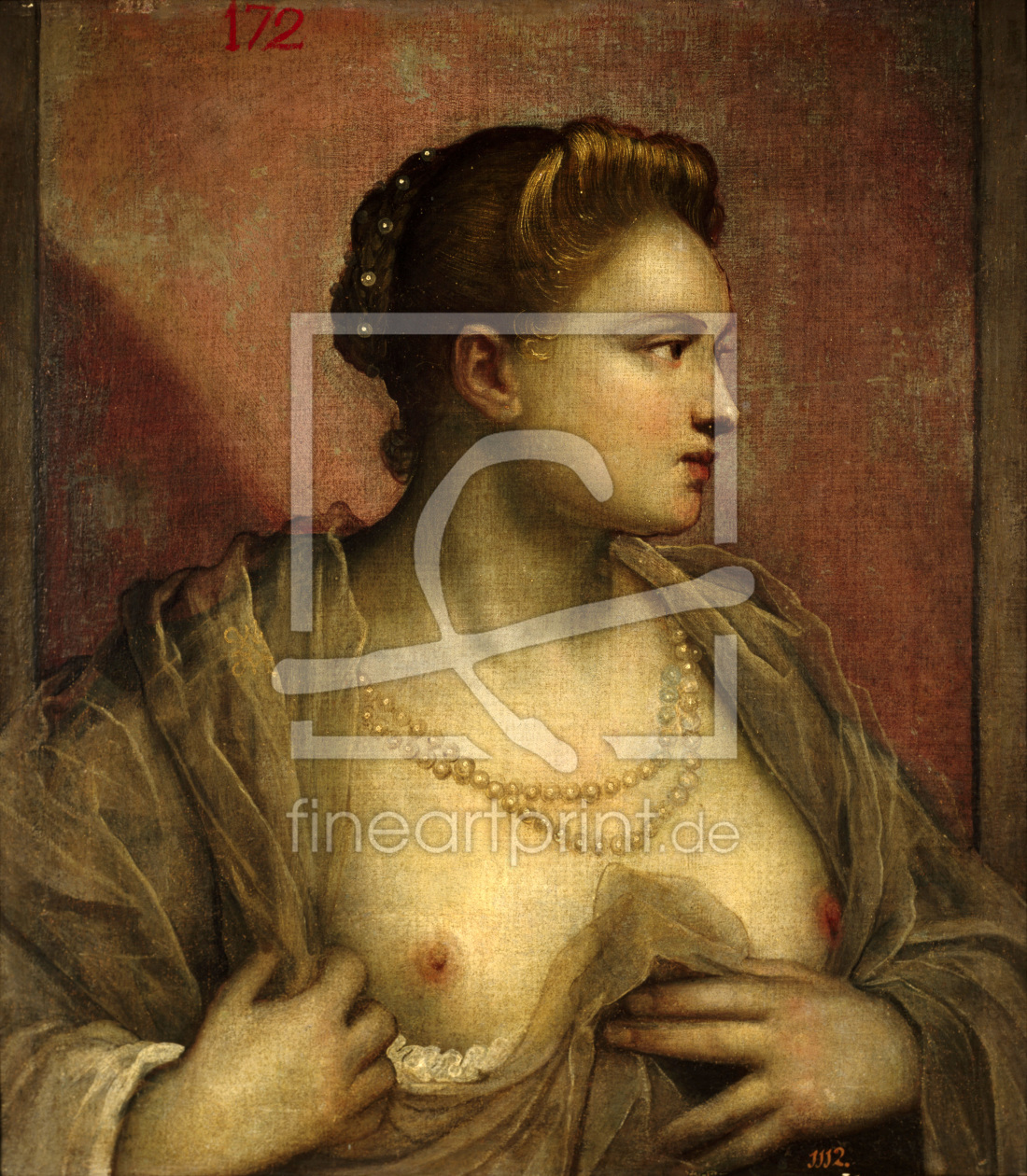Bild-Nr.: 30009405 Tintoretto / Woman with Uncovered Breast erstellt von Tintoretto, Jacopo