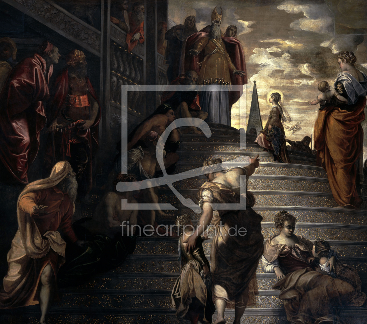 Bild-Nr.: 30009423 Tintoretto / Mary in the Temple erstellt von Tintoretto, Jacopo