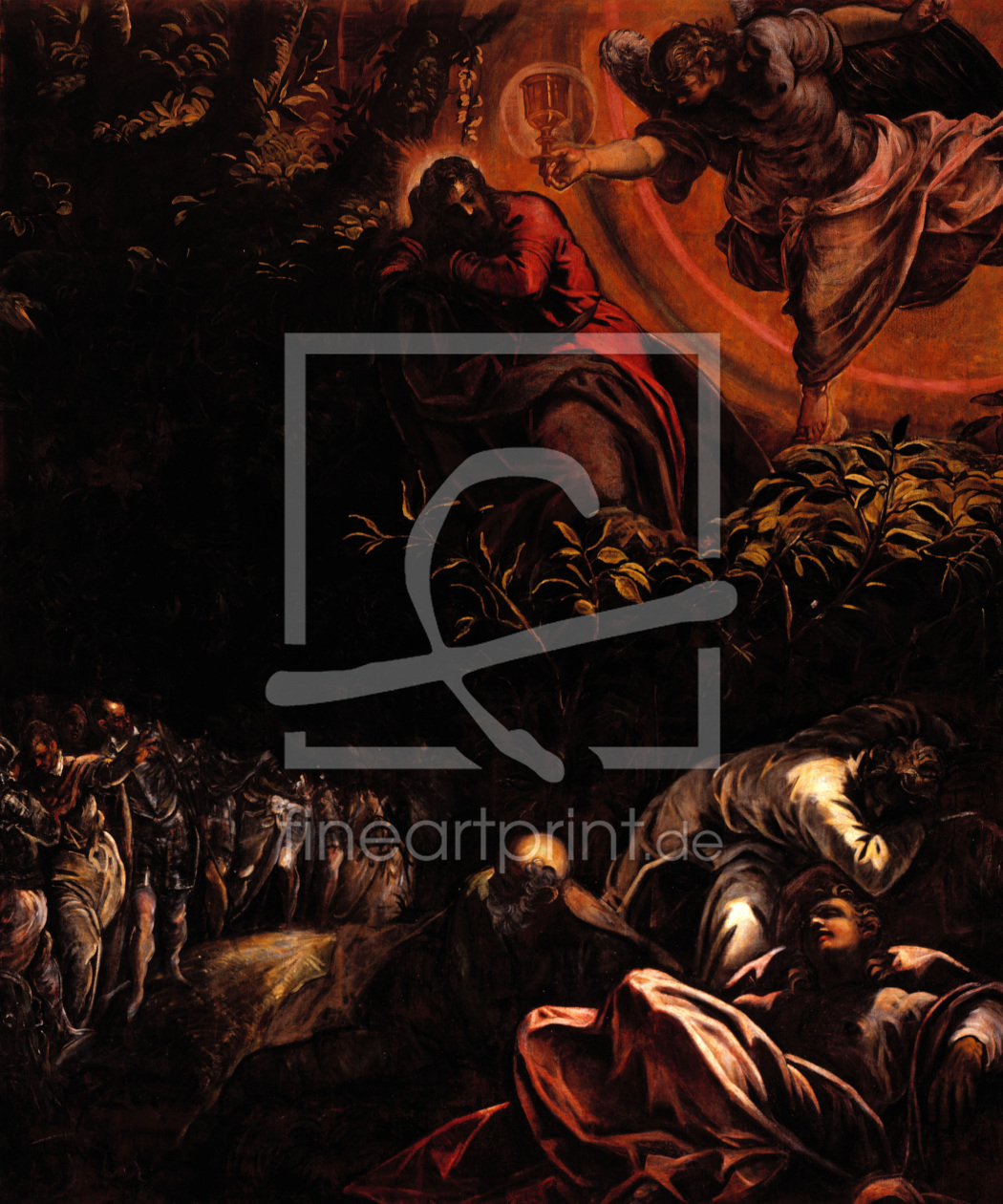 Bild-Nr.: 30009507 Tintoretto, Christ at Mount of Olives erstellt von Tintoretto, Jacopo