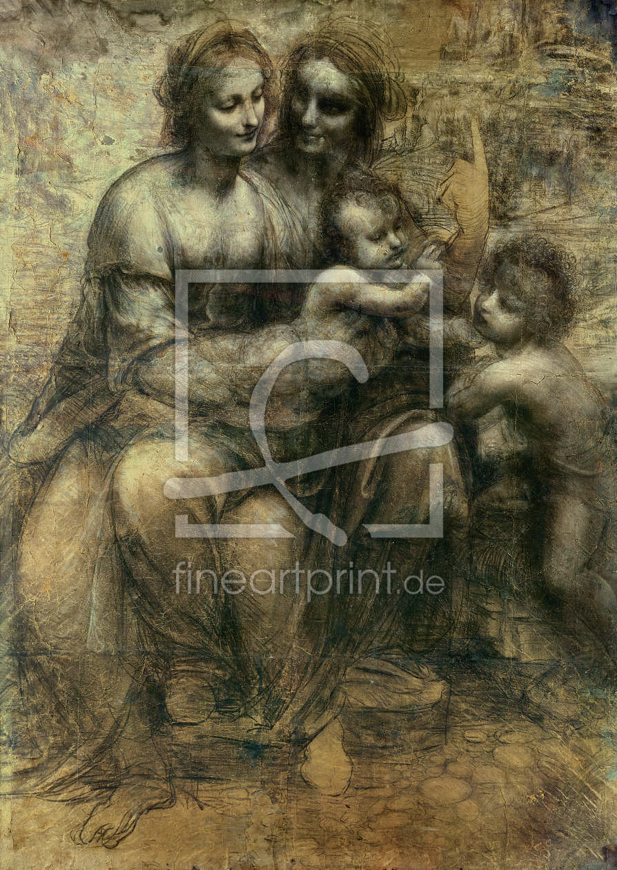 Bild-Nr.: 31000016 The Virgin and Child with SS. Anne and John the Baptist, c.1499 erstellt von da Vinci, Leonardo