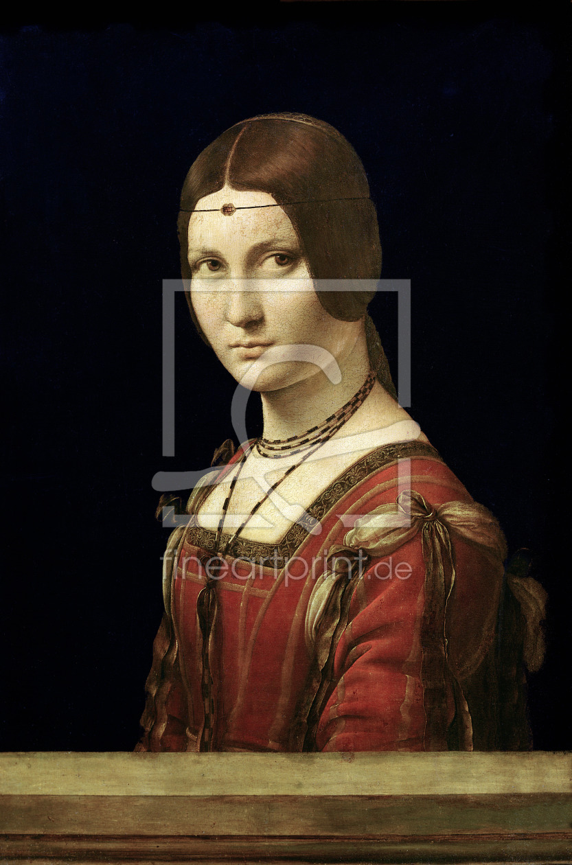Bild-Nr.: 31000017 Portrait of a Lady from the Court of Milan, c.1490-95 erstellt von da Vinci, Leonardo