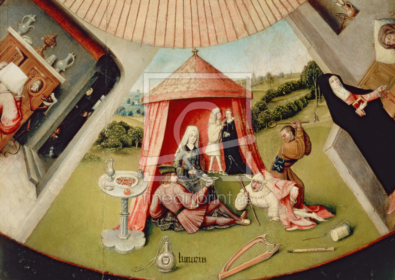 Bild-Nr.: 31000075 Luxury, detail from The Table of the Seven Deadly Sins and the Four Last Things, erstellt von Bosch, Hieronymus