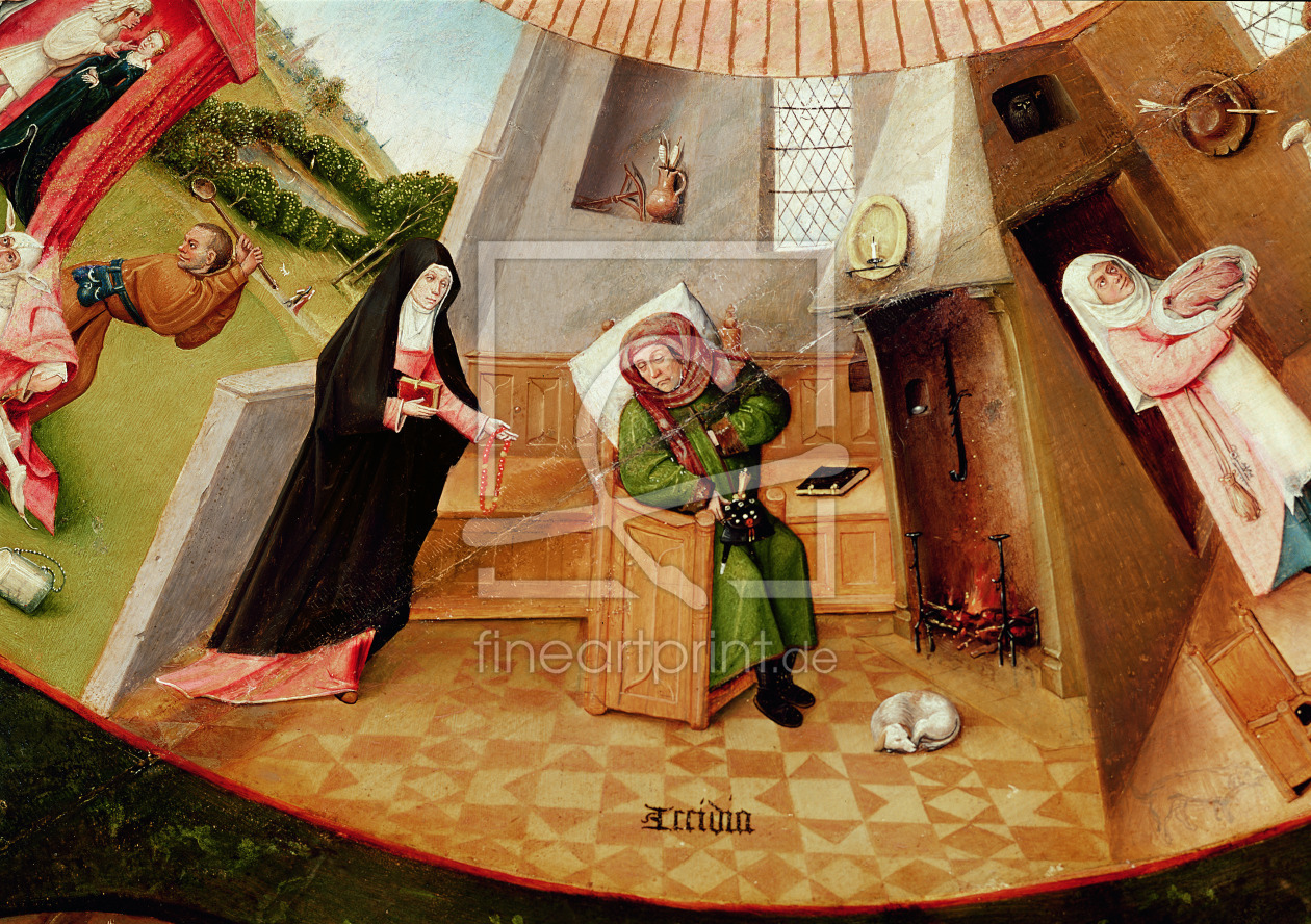 Bild-Nr.: 31000077 Sloth, detail from the Table of the Seven Deadly Sins and the Four Last Things,  erstellt von Bosch, Hieronymus