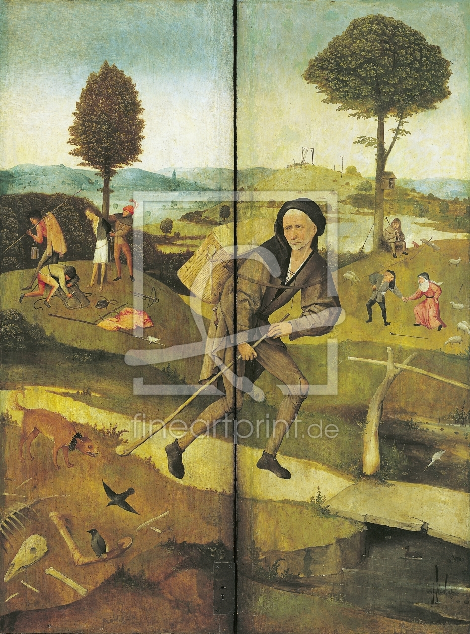 Bild-Nr.: 31000085 The Haywain, with panels closed showing Everyman walking the Path of Life erstellt von Bosch, Hieronymus