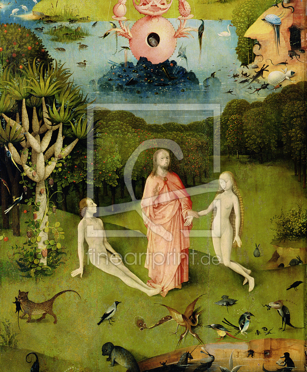 Bild-Nr.: 31000087 The Garden of Earthly Delights: The Garden of Eden, left wing of triptych, c.150 erstellt von Bosch, Hieronymus