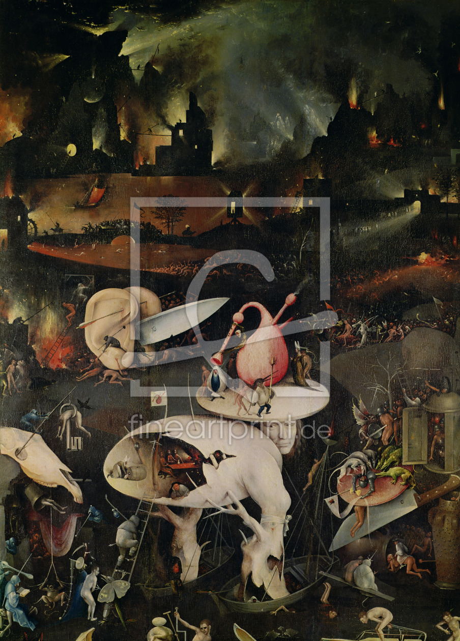 Bild-Nr.: 31000089 The Garden of Earthly Delights, Hell, right wing of triptych, c.1500 erstellt von Bosch, Hieronymus