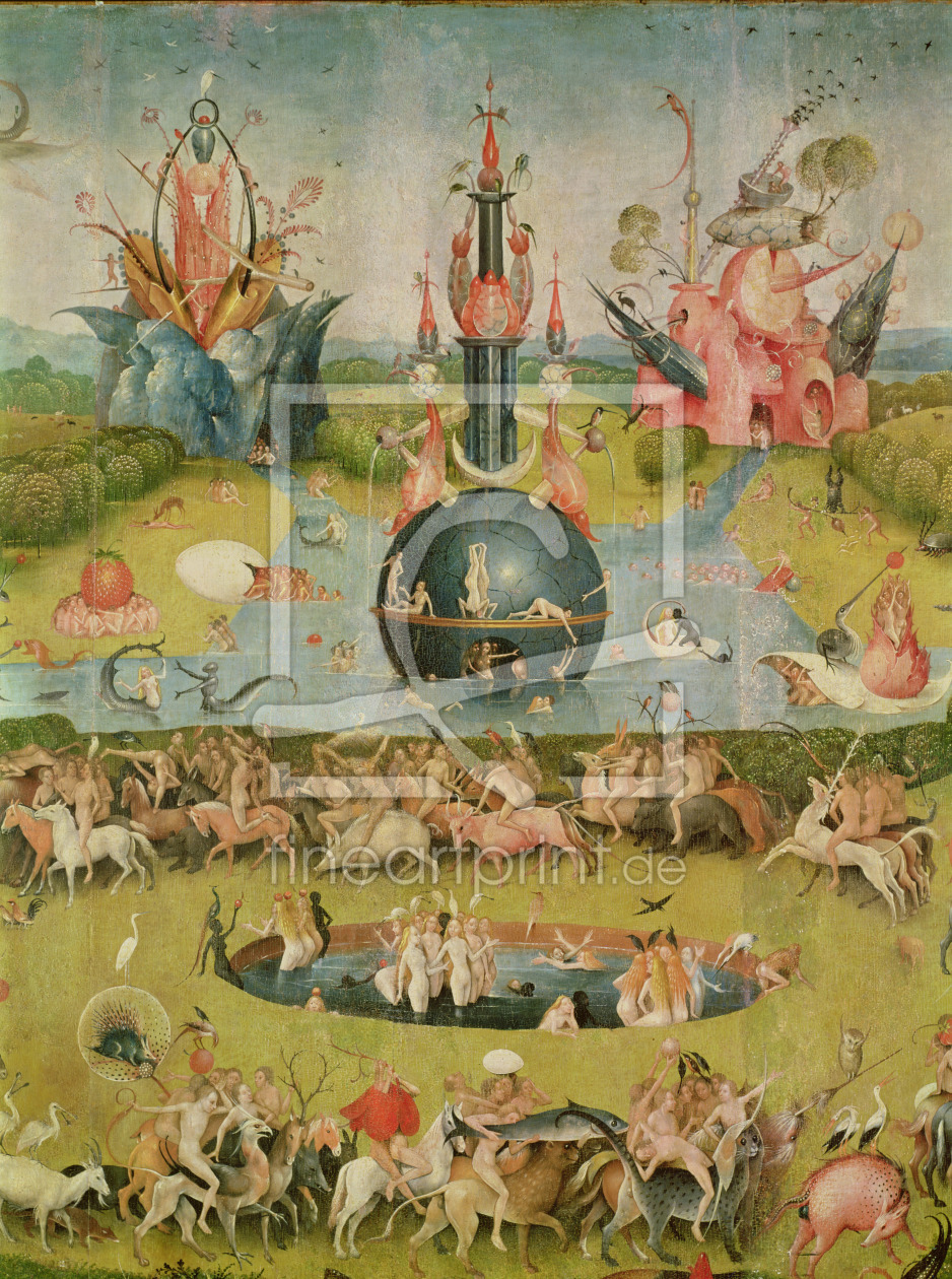 Bild-Nr.: 31000090 The Garden of Earthly Delights: Allegory of Luxury, central panel of triptych, c erstellt von Bosch, Hieronymus