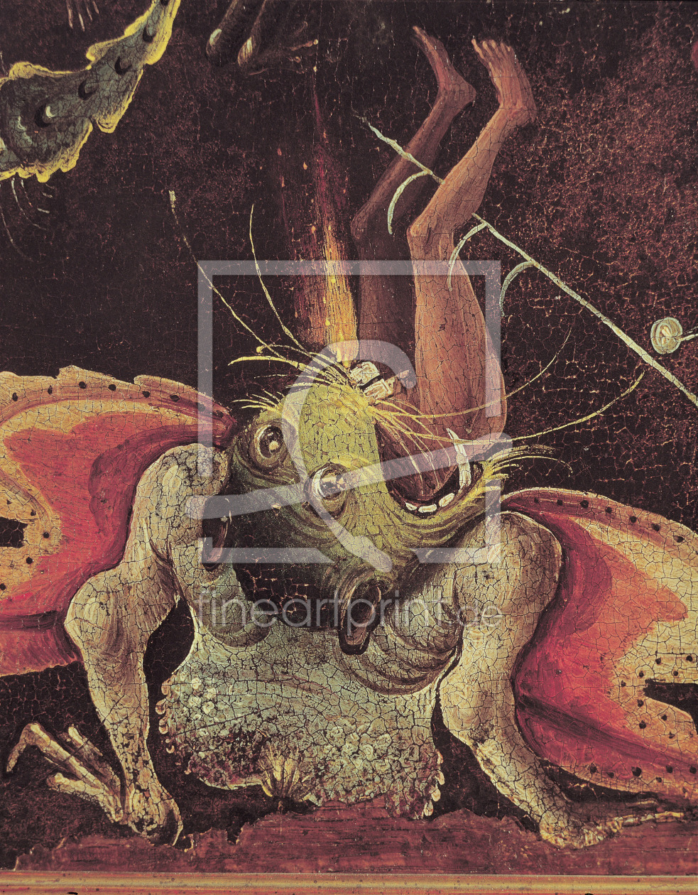 Bild-Nr.: 31000097 The Last Judgement, detail of a man being eaten by a monster, c.1504 erstellt von Bosch, Hieronymus