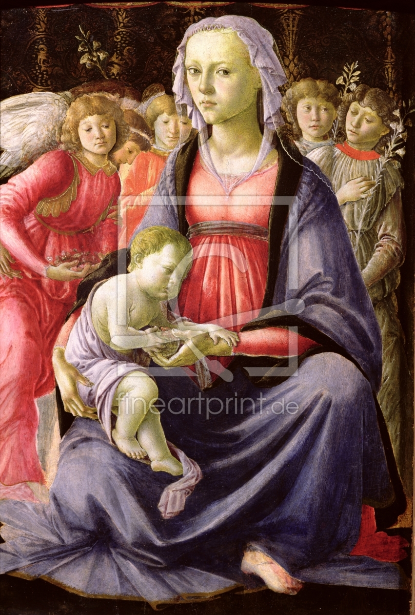 Bild-Nr.: 31000108 The Virgin and Child surrounded by Five Angels erstellt von Botticelli, Sandro