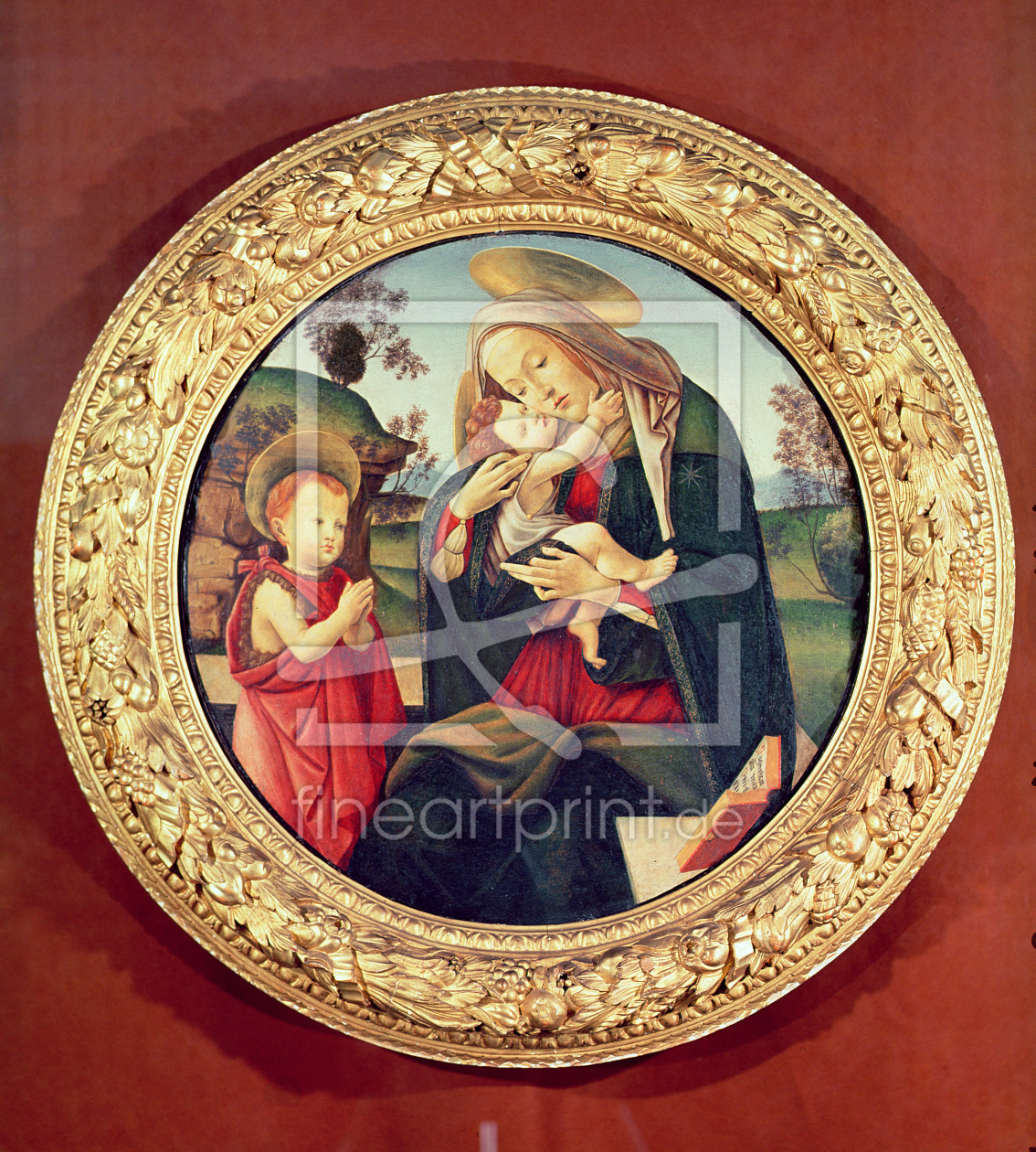 Bild-Nr.: 31000112 Virgin and Child with John the Baptist erstellt von Botticelli, Sandro