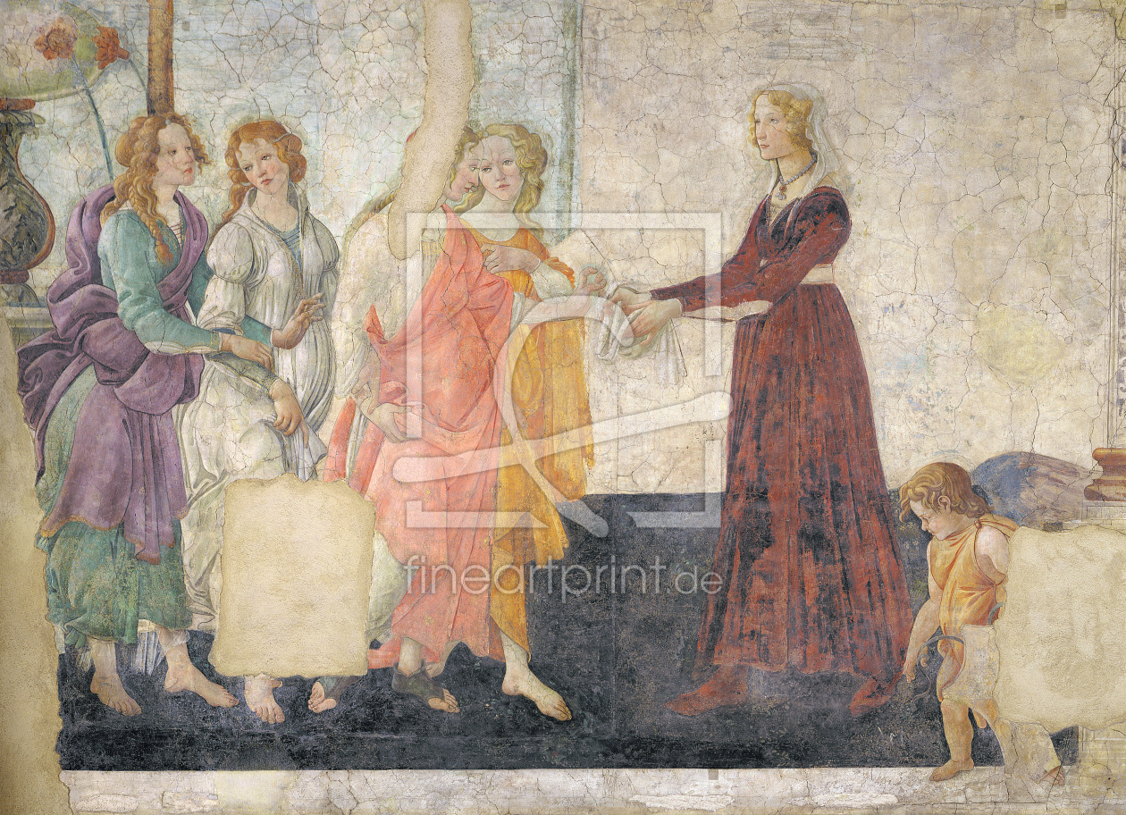 Bild-Nr.: 31000116 Venus and the Graces offering gifts to a young girl, 1486 erstellt von Botticelli, Sandro