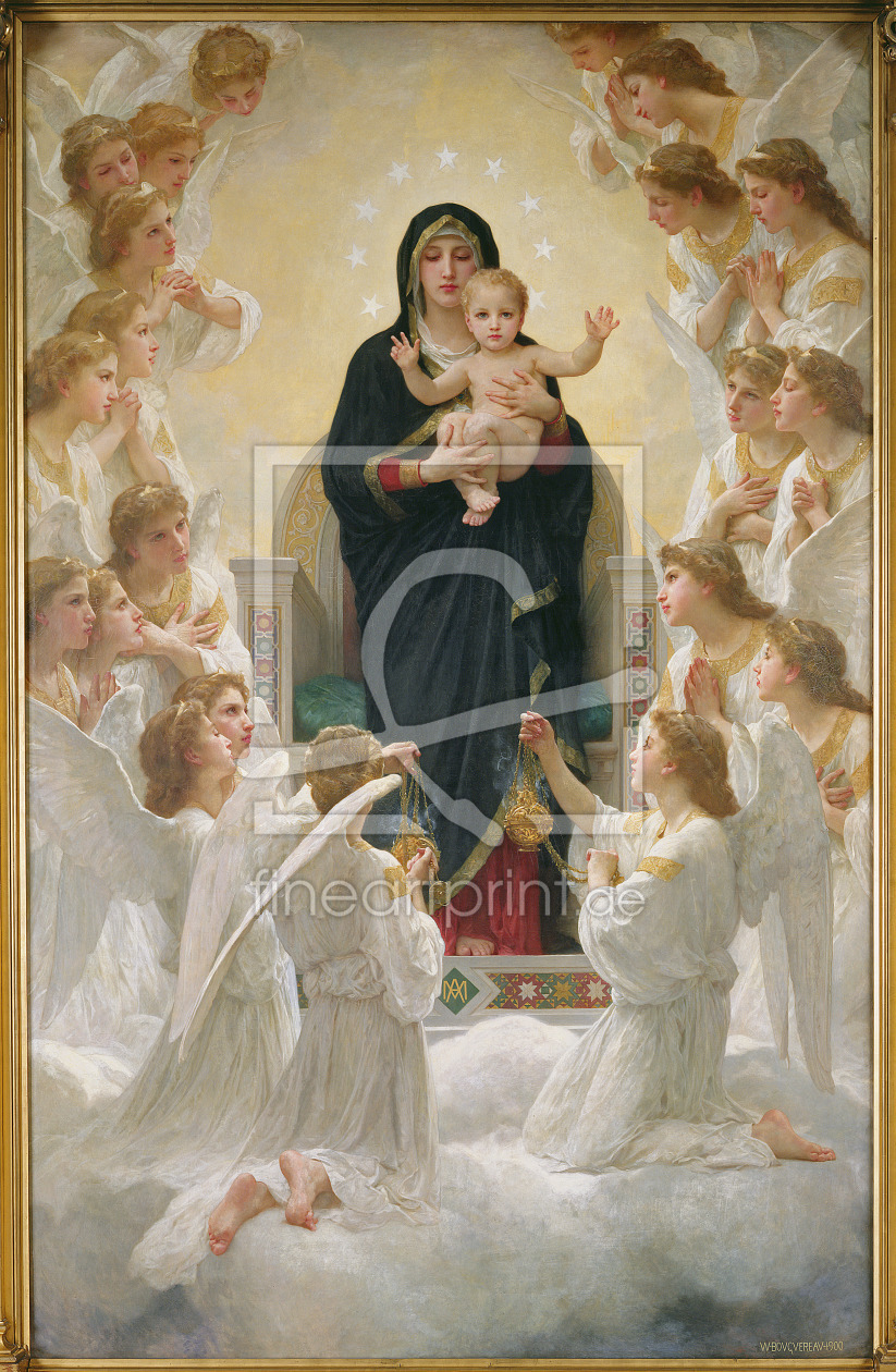 Bild-Nr.: 31000123 The Virgin with Angels, 1900 erstellt von Bouguereau, William Adolphe
