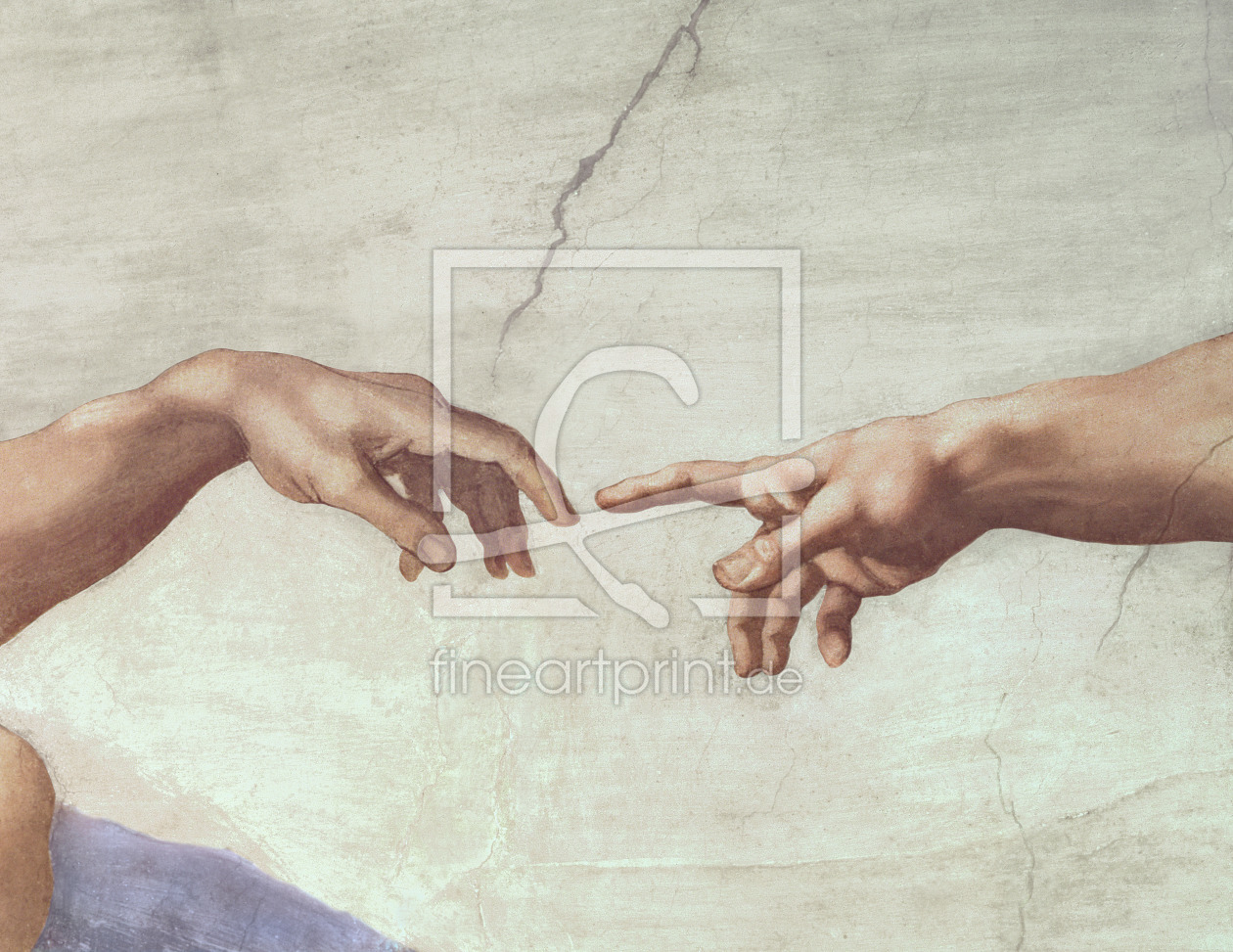 Bild-Nr.: 31000132 Hands of God and Adam, detail from The Creation of Adam, from the Sistine Ceilin erstellt von Buonarroti, Michelangelo (Michelangelo di Lodovico Buonarroti Simoni)