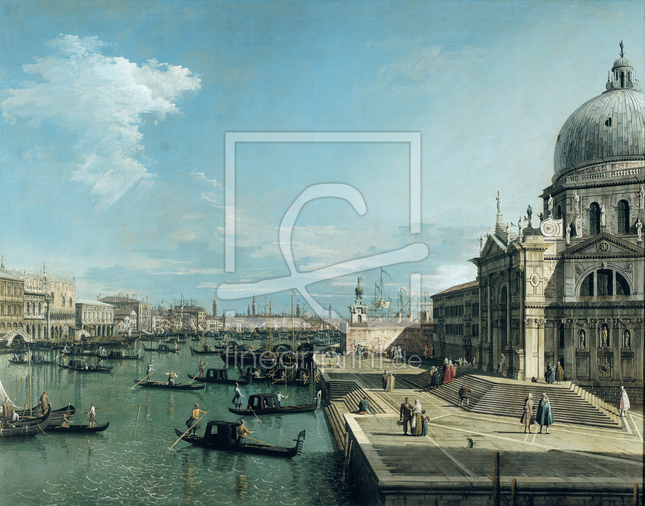 Bild-Nr.: 31000167 The Entrance to the Grand Canal and the church of Santa Maria della Salute, Veni erstellt von Canal, Giovanni Antonio & Bellotto, Bernardo